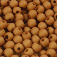 Muovihelmet, halk. 6 mm, aukon koko 2 mm, ruskea, 40 g/ 1 pkk