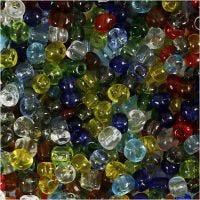 Rocaille-siemenhelmet, halk. 4 mm, koko 6/0 , aukon koko 0,9-1,2 mm, kirkas, 130 g/ 1 pkk