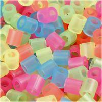 Nabbi- putkihelmet, koko 5x5 mm, aukon koko 2,5 mm, medium, neonvärit, 6000 laj/ 1 pkk