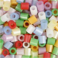 Nabbi- putkihelmet, koko 5x5 mm, aukon koko 2,5 mm, medium, helmiäisvärit, 5000 laj/ 1 prk