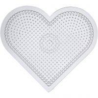 Putkihelmialusta, iso sydän, Kork. 15 cm, kuulto, 10 kpl/ 1 pkk