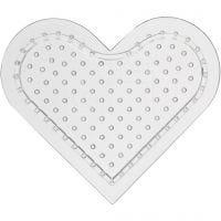 Putkihelmialusta, pieni sydän, Kork. 8 cm, 10 kpl/ 1 pkk