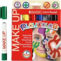 Playcolor-kasvovärikynät, värilajitelma, 6x5 g/ 1 pkk