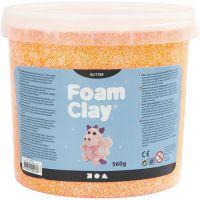 Foam Clay®, kimalle, oranssi, 560 g/ 1 prk