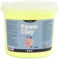 Foam Clay®, kimalle, keltainen, 560 g/ 1 prk