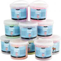 Foam Clay®, kimalle,metallinen, Lajitelman sisältö voi vaihdella , 10x560 g/ 1 pkk