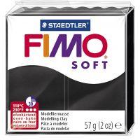 FIMO® Soft- muovailumassa, musta, 57 g/ 1 pkk