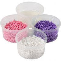 Pearl Clay®, pinkki, violetti, valkoinen, 1 set, 3x25+38 g