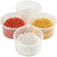 Pearl Clay®, oranssi, valkoinen, keltainen, 1 set