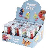 Foam Clay®, glitter värit, metallic-värit, 12 set/ 1 pkk