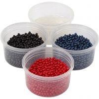 Pearl Clay®, musta, sininen, punainen, 1 set, 3x25+38 g