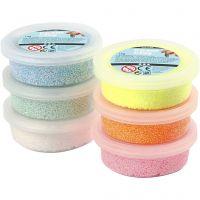 Foam Clay®, kimalle, pastellivärit, 6x14 g/ 1 pkk