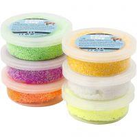 Foam Clay® Helmimassa, kevätvärit, 6x14 g/ 1 pkk