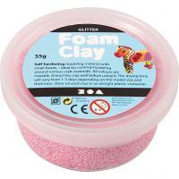 Foam Clay®, kimalle, vaaleanpunainen, 35 g/ 1 tb