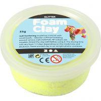 Foam Clay®, kimalle, keltainen, 35 g/ 1 tb