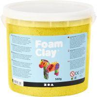 Foam Clay®, metallinen, keltainen, 560 g/ 1 prk