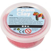 Foam Clay®, metallinen, punainen, 35 g/ 1 tb