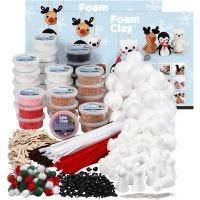 Foam Clay luokkapakkaus, värilajitelma, 1 set