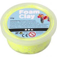 Foam Clay® Helmimassa, neonkeltainen, 35 g/ 1 tb