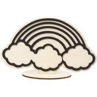 Koristehahmo, sateenkaari, Kork. 10,5 cm, 1 kpl