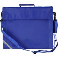 Koululaukku, syvyys 6 cm, koko 36x31 cm, sininen, 1 kpl