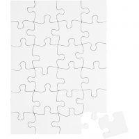 Palapeli, koko 15x21 cm, valkoinen, 16 kpl/ 1 pkk
