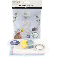 Mini-luova pakkaus, Meduusa ja kala, 1 set