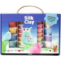 Silk Clay® Set -silkkimassasetti, värilajitelma, 1 set