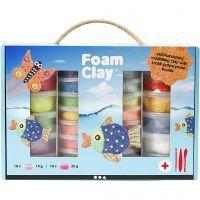Foam Clay® Set -helmimasasetti, värilajitelma, 1 set