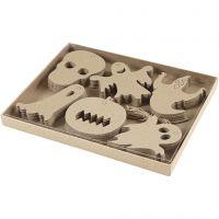 Halloween-koristeet, koko 7-10 cm, 6x10 kpl/ 1 pkk