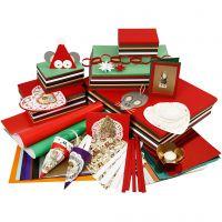 Joulukoristelupakkaus, värilajitelma, 1 set