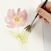 Kuinka maalata vesiväreillä kevyillä siveltimen vedoilla