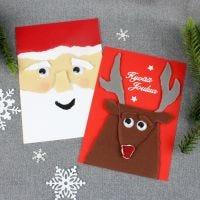 Hauskat joulukortit repimällä