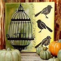 Häkki ja linnut-taulu