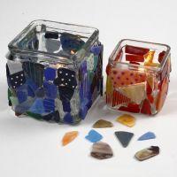 Mosaiikkia lasipurkeissa