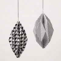Designpaperista tehty timantinmuotoinen koriste