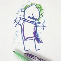 Piirtäminen kopiopaperiin Colortime- tusseilla