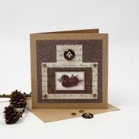 Ekohenkinen cabochon-joulukortti