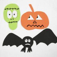 Softiksesta tehdyt magneettiset halloween-kuviot