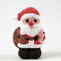 Helmimassalla päällystetty joulupukki