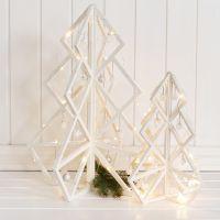 Koristeltu 3D- joulupuu