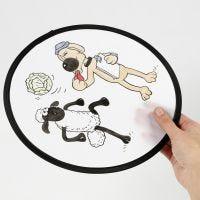 Tekstiilitusseilla koristeltu Late Lammas-frisbee.