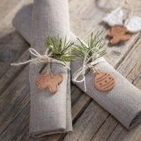 Joulukuvioita koristeeksi itsekovettuvasta savesta