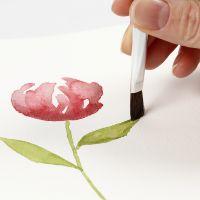 Kuinka maalata vesiväreillä tasaisilla siveltimen vedoilla